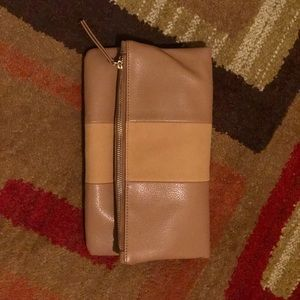 Two tone brown clutch